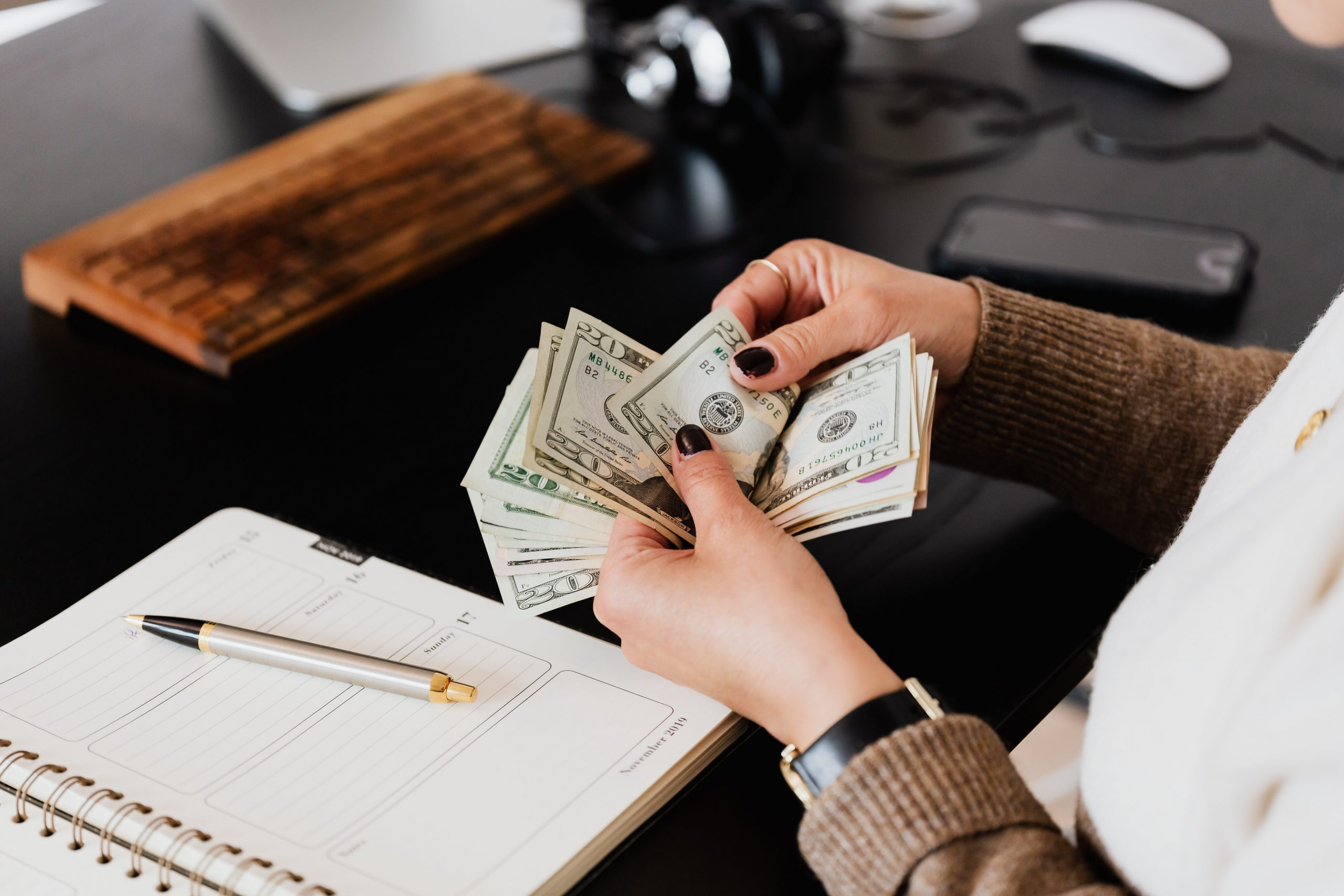 Money being prepared for fast approval loan