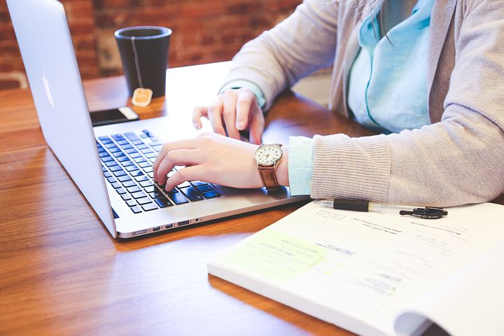 Woman offering SEO Services